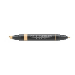 Prismacolor® Premier Art Marker Sand; Color: Brown; Double-Ended: Yes; Ink Type: Alcohol-Based, Dye-Based; Tip Type: Extra Broad Nib, Fine Nib; (model PM70), price per each