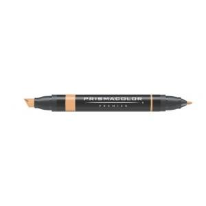 Prismacolor® Premier Art Marker Goldenrod: Brown, Double-Ended, Alcohol-Based, Dye-Based, Extra Broad Nib, Fine Nib, (model PM69), price per each