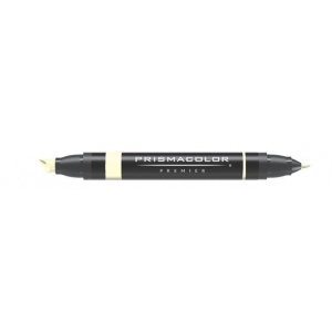 Prismacolor® Premier Art Marker Cream: Brown, Double-Ended, Alcohol-Based, Dye-Based, Extra Broad Nib, Fine Nib, (model PM23), price per each