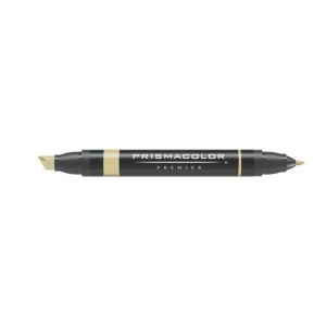 Prismacolor® Premier Art Marker Oatmeal; Color: Brown; Double-Ended: Yes; Ink Type: Alcohol-Based, Dye-Based; Tip Type: Extra Broad Nib, Fine Nib; (model PM210), price per each