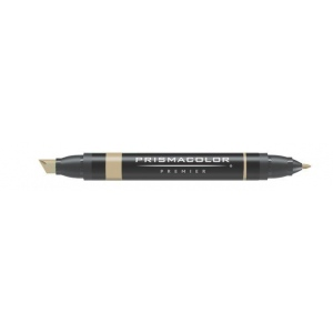 Prismacolor® Premier Art Marker Khaki; Color: Brown; Double-Ended: Yes; Ink Type: Alcohol-Based, Dye-Based; Tip Type: Extra Broad Nib, Fine Nib; (model PM209), price per each