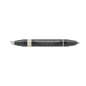 Prismacolor® Premier Art Marker Parchment: Black/Gray, Double-Ended, Alcohol-Based, Dye-Based, Extra Broad Nib, Fine Nib, (model PM205), price per each