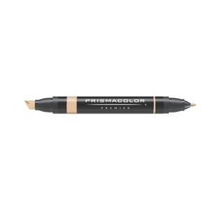 Prismacolor® Premier Art Marker Cinnamon Toast; Color: Brown; Double-Ended: Yes; Ink Type: Alcohol-Based, Dye-Based; Tip Type: Extra Broad Nib, Fine Nib; (model PM201), price per each
