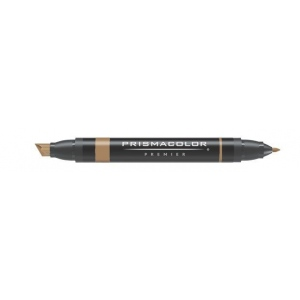 Prismacolor® Premier Art Marker Mocha Light: Brown, Double-Ended, Alcohol-Based, Dye-Based, Extra Broad Nib, Fine Nib, (model PM199), price per each
