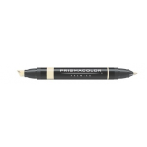 Prismacolor® Premier Art Marker Wheat; Color: Brown; Double-Ended: Yes; Ink Type: Alcohol-Based, Dye-Based; Tip Type: Extra Broad Nib, Fine Nib; (model PM196), price per each