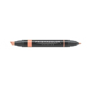 Prismacolor® Premier Art Marker Peach; Color: Red/Pink; Double-Ended: Yes; Ink Type: Alcohol-Based, Dye-Based; Tip Type: Extra Broad Nib, Fine Nib; (model PM170), price per each