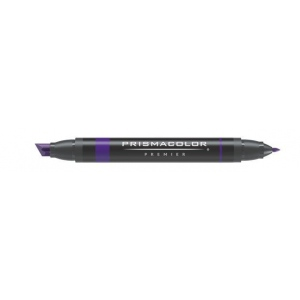 Prismacolor® Premier Art Marker Dark Purple; Color: Purple; Double-Ended: Yes; Ink Type: Alcohol-Based, Dye-Based; Tip Type: Extra Broad Nib, Fine Nib; (model PM168), price per each
