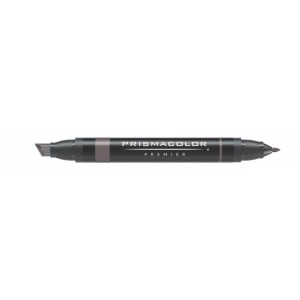 Prismacolor® Premier Art Marker French Gray 80%: Black/Gray, Double-Ended, Alcohol-Based, Dye-Based, Extra Broad Nib, Fine Nib, (model PM162), price per each