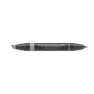 Prismacolor® Premier Art Marker French Gray 60%: Black/Gray, Double-Ended, Alcohol-Based, Dye-Based, Extra Broad Nib, Fine Nib, (model PM160), price per each
