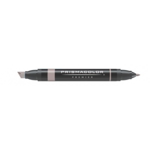 Prismacolor® Premier Art Marker French Gray 50%; Color: Black/Gray; Double-Ended: Yes; Ink Type: Alcohol-Based, Dye-Based; Tip Type: Extra Broad Nib, Fine Nib; (model PM159), price per each