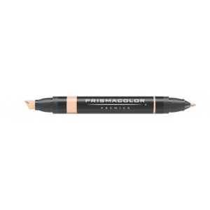 Prismacolor® Premier Art Marker Salmon Pink; Color: Red/Pink; Double-Ended: Yes; Ink Type: Alcohol-Based, Dye-Based; Tip Type: Extra Broad Nib, Fine Nib; (model PM122), price per each