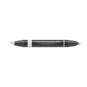 Prismacolor® Premier Art Marker Warm Gray 30%: Black/Gray, Double-Ended, Alcohol-Based, Dye-Based, Extra Broad Nib, Fine Nib, (model PM101), price per each