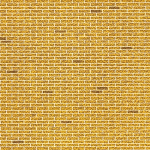 "Architectural Model-Building Material: Brick/Yellow, 6"" x 18"" Sheet"