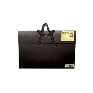 "Star® Sable Portfolio 20"" x 26""; Color: Black/Gray; Gusset Size: 2""; Material: Sable; Size: 20"" x 26""; (model S26H-BLK), price per each"