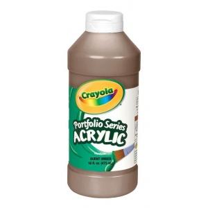 Crayola® Portfolio Series Acrylic Paint Burnt Umber: Brown, Bottle, 16 oz, Acrylic, (model BAS275), price per each