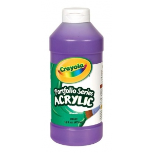 Crayola® Portfolio Series Acrylic Paint Violet; Color: Purple; Format: Bottle; Size: 16 oz; Type: Acrylic; (model BAS280), price per each