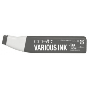 Copic® Various Toner Gray No. 8 Ink; Color: Black/Gray; Ink Type: Alcohol-Based; Refill: Yes; (model T8-V), price per each