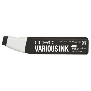 Copic® Various Warm Gray No. 10 Ink; Color: Black/Gray; Ink Type: Alcohol-Based; Refill: Yes; (model W10-V), price per each