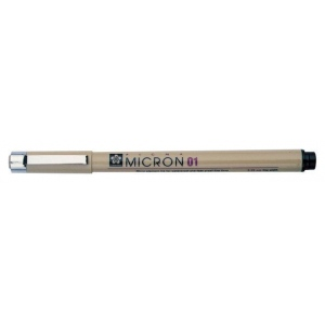 Pigma® Micron® Blue Fine Line Design Pen .50mm: Blue, Pigment, .5mm, Fine Nib, (model XSDK08-36), price per each