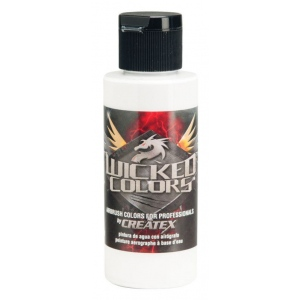 Wicked Colors™ Airbrush Paint 2oz White: White/Ivory, Bottle, 2 oz, Airbrush, (model W001-02), price per each