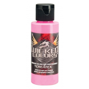 Wicked Colors™ Airbrush Paint 2oz Fluorescent Pink; Color: Red/Pink; Format: Bottle; Size: 2 oz; Type: Airbrush; (model W026-02), price per each