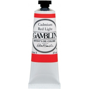 Gamblin Artists' Grade Oil Color 37ml Cadmium Red Deep; Color: Red/Pink; Format: Tube; Size: 37 ml; Type: Oil; (model G1160), price per tube