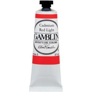 Gamblin Artists' Grade Oil Color 37ml Radiant Red: Red/Pink, Tube, 37 ml, Oil, (model G1860), price per tube