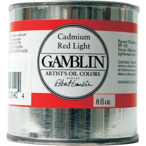 Gamblin Artists' Grade Oil Color 8ml Hansa Yellow Light; Color: Yellow; Format: Can; Size: 8 oz; Type: Oil; (model G3300), price per each