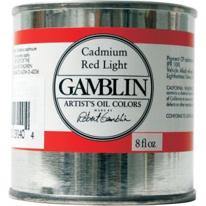 Gamblin Artists' Grade Oil Color 8ml Portland Grey Light; Color: Black/Gray; Format: Can; Size: 8 oz; Type: Oil; (model G3551), price per each