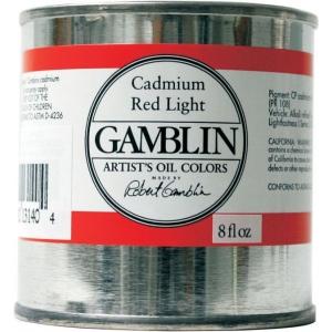 Gamblin Artists' Grade Oil Color 8ml Titanium-Zinc White; Color: White/Ivory; Format: Can; Size: 8 oz; Type: Oil; (model G3820), price per each