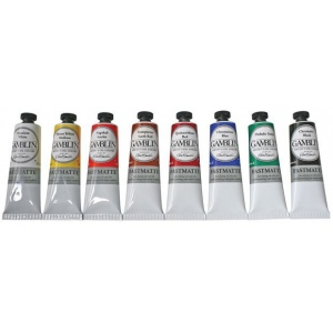 Gamblin Artists' Grade FastMatte Alkyd Oil Color 37ml Phthalo Green; Color: Green; Format: Tube; Size: 37 ml; Type: Alkyd Oil; (model GF1540), price per tube