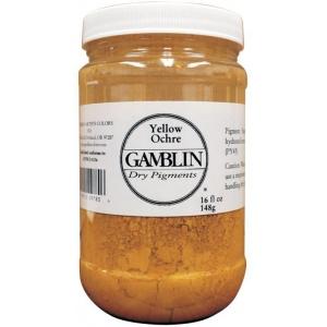 Gamblin Dry Pigment 310g Titanium Dioxide: Yellow, Jar, 4 oz, (model G9810), price per each