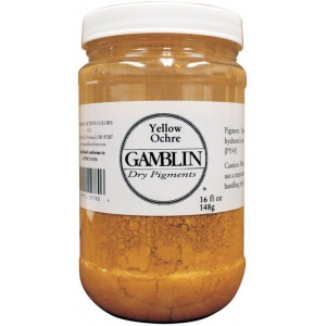 Gamblin Dry Pigment 212g Whiting: White/Ivory, Jar, 4 oz, (model G9820), price per each