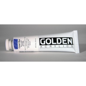 Golden® Heavy Body Acrylic 2 oz. Cobalt Blue; Color: Blue; Format: Tube; Size: 2 oz, 59 ml; Type: Acrylic; (model 0001140-2), price per tube