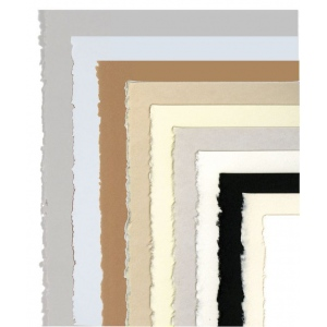 """Stonehenge® 22"""" x 30"""" Pearl White Versatile Artist Paper; Color: White/Ivory; Format: Sheet; Material: Cotton; Size: 22"""" x 30""""; Weight: 250 gsm; (model F05-STN250PW2230), price per sheet"""