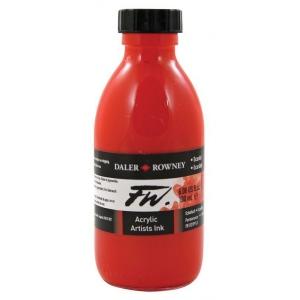 FW Liquid Artists' Acrylic Ink 6 oz. Scarlet: Red/Pink, Bottle, Acrylic, 6 oz, (model FW160180567), price per each