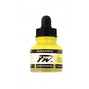 FW Liquid Artists' Acrylic Ink 1 oz. Lemon Yellow; Color: Yellow; Format: Bottle; Ink Type: Acrylic; Size: 1 oz; (model FW160029651), price per each