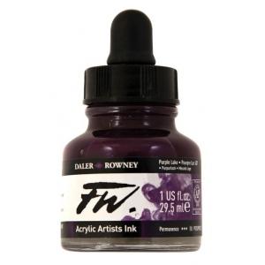 FW Liquid Artists' Acrylic Ink 1 oz. Purple Lake; Color: Purple; Format: Bottle; Ink Type: Acrylic; Size: 1 oz; (model FW160029437), price per each