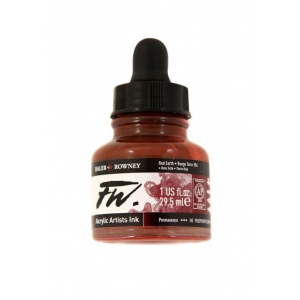FW Liquid Artists' Acrylic Ink 1 oz. Red Earth; Color: Red/Pink; Format: Bottle; Ink Type: Acrylic; Size: 1 oz; (model FW160029554), price per each