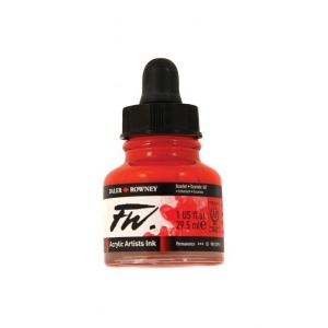 FW Liquid Artists' Acrylic Ink 1 oz. Scarlet; Color: Red/Pink; Format: Bottle; Ink Type: Acrylic; Size: 1 oz; (model FW160029567), price per each