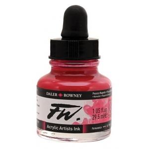 FW Liquid Artists' Acrylic Ink 1 oz. Process Magenta: Red/Pink, Bottle, Acrylic, 1 oz, (model FW160029412), price per each