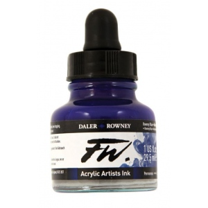 FW FW Liquid Artists' Acrylic Ink 1 oz. Rowney Blue: Blue, Bottle, Acrylic, 1 oz, (model FW160029119), price per each