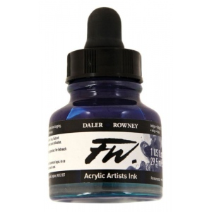 FW Liquid Artists' Acrylic Ink 1 oz. Indigo; Color: Blue; Format: Bottle; Ink Type: Acrylic; Size: 1 oz; (model FW160029127), price per each