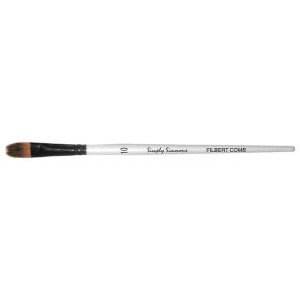 Daler-Rowney Simply Simmons Synthetic Acrylic/Multimedia Brush Filbert Comb 10: Short Handle, Bristle, Filbert, Acrylic, Multimedia, (model SS255068010), price per each