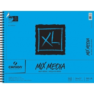"Canson® XL® 14"" x 17"" Mix Media Pad (Side Wire); Binding: Wire Bound; Color: White/Ivory; Format: Pad; Quantity: 60 Sheets; Size: 14"" x 17""; (model C100510930), price per 60 Sheets pad"