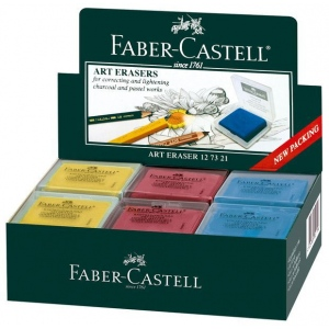 Faber-Castell® Color Kneaded Eraser Display: Assorted, 18-Box, Manual, (model FC127321D), price per each