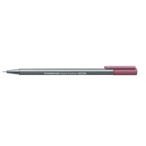 Staedtler® Triplus® Tuscan Red Fineliner Pen : Red/Pink, .3mm, Fine Nib, Technical, (model 334-260), price per each