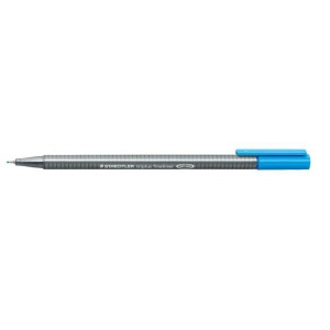 Staedtler® Triplus® Light Blue Fineliner Pen : Blue, .3mm, Fine Nib, Technical, (model 334-30), price per each