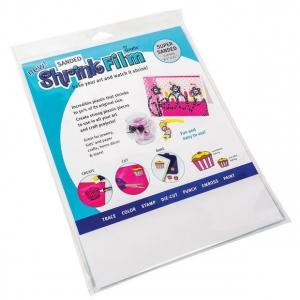 "Grafix® 8 1/2"" x 11"" Sanded Shrink Film: Clear, Sheet, 8 1/2"" x 11"", Film, (model KSF6-S), price per pack"