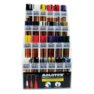 MOLOTOW™ Acrylic Pump Marker Starter Display Assortment: Paint, Refillable, Paint Marker, (model MOL24ASST), price per each